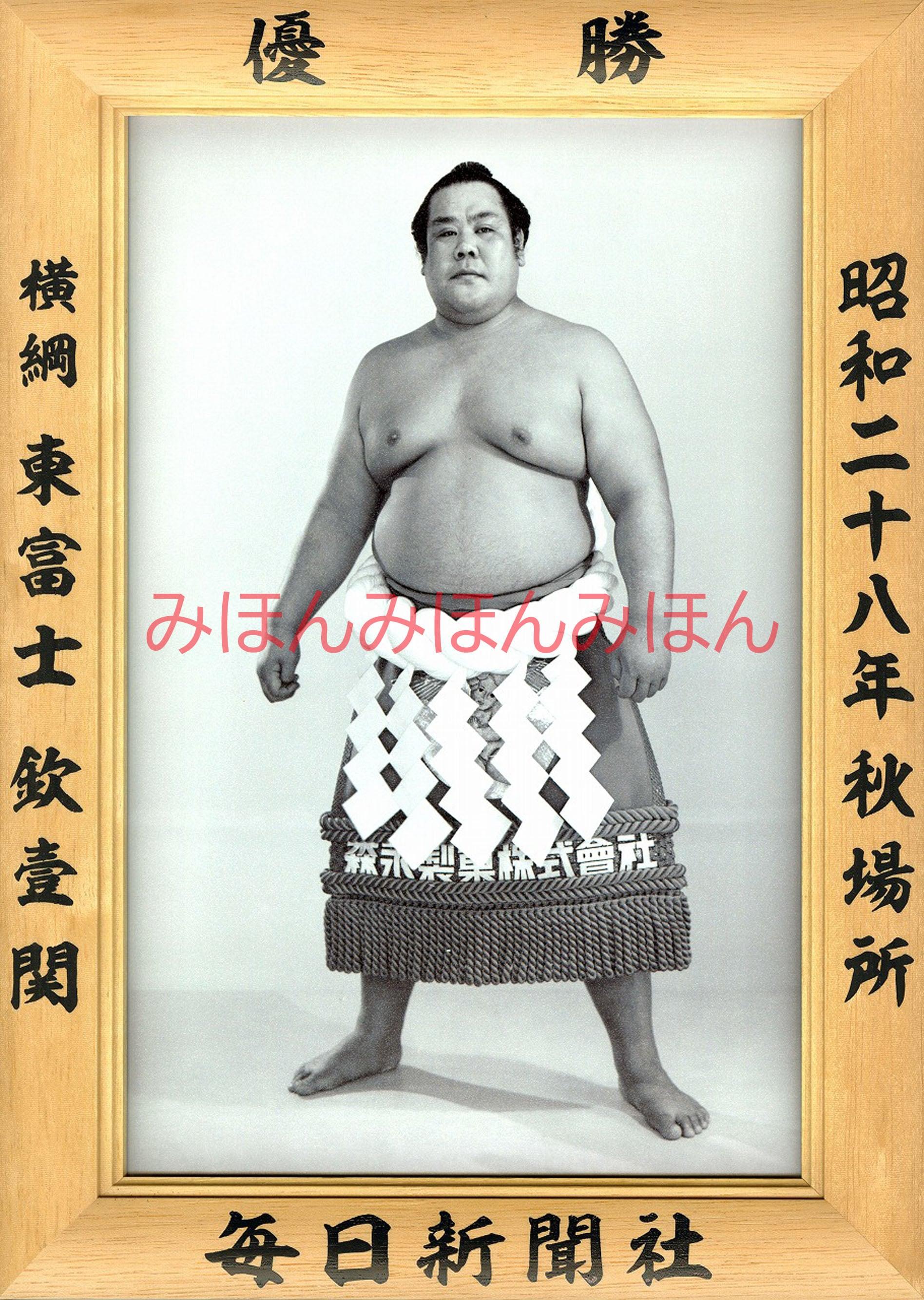 昭和28年秋場所優勝 横綱 東富士欽壹関(6回目の優勝)