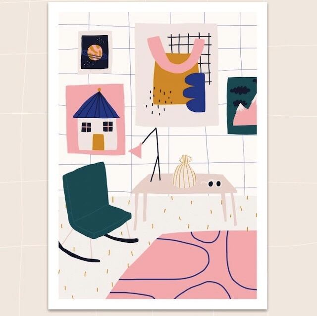 """Jennifer Bouron  """"Home"""" A4 print"""