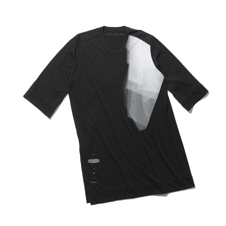 747CUM9-BLACK / スリットロングスリーブTシャツ