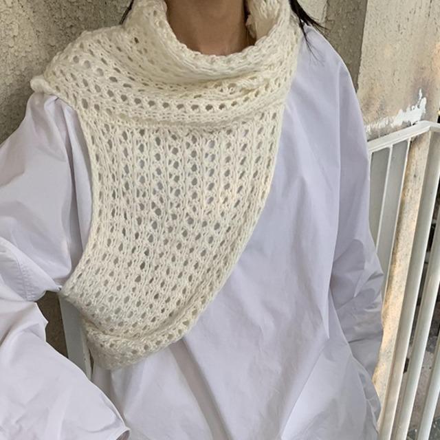 One shoulder knit vest( ワンショルダーニットベスト)b-435
