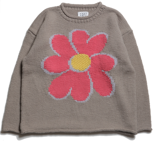 """CC """"FLOWER with LOVE"""" HAND KNIT -MOCA-"""