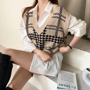 【トップス】美人度アップ カジュアル キュート ファッション チェック柄 着痩せ ゆったり シック ベスト52263585
