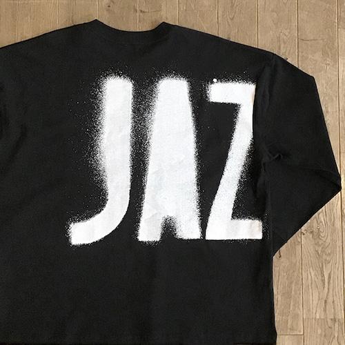 """【残りわずか】JS """"JAZZ ステンシル"""" ロングスリーブ Tシャツ(ワイドシルエット)/ブラック"""