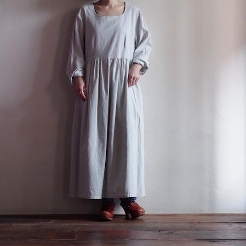 Cotton Dress / ランダム ヒッコリー コットン ドレス / ストライプ ワンピース