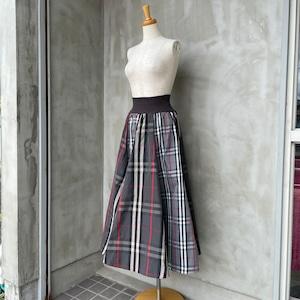【再入荷】MONILE/チェックミモレ丈スカート