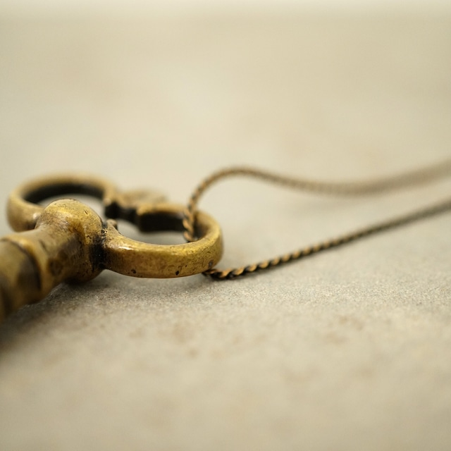 【FRENCH ANTIQUE】KEY CHARM NECKLACE / D