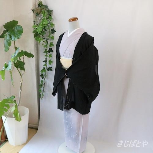 正絹絽 黒地にスワトウの夏羽織
