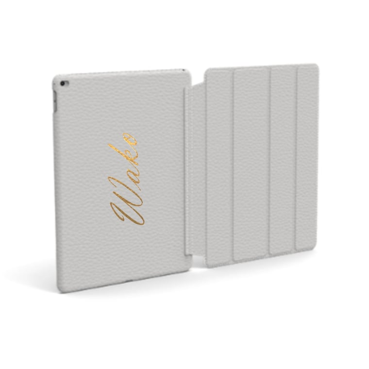 Custom Name iPad Premium Shrink Leather Case (Book Cover Type) (Limited/10月分数量限定)