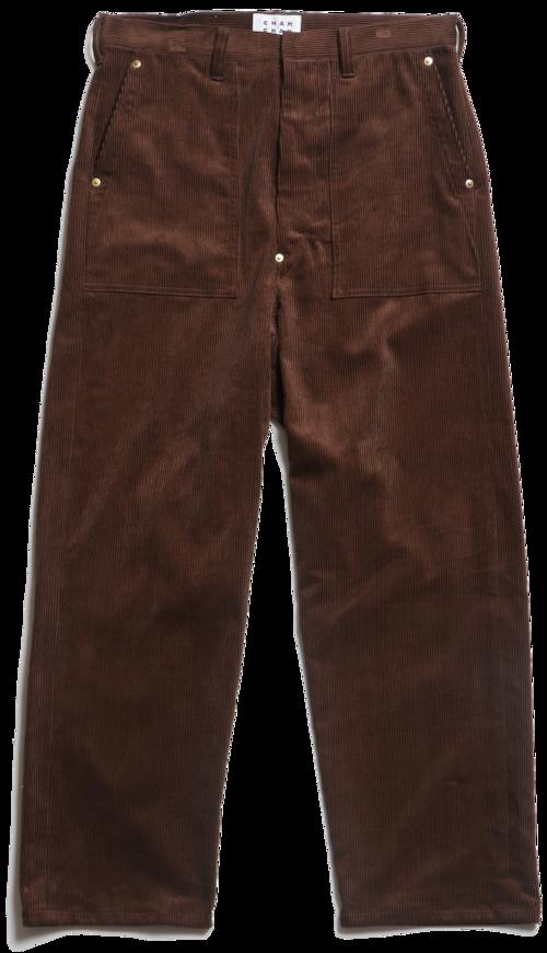 CC CORDUROY BAKER PANTS -BROWN-