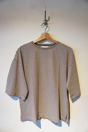 Fresca Stripe Relax T-shirt [Navy / Whtie . Brown / White .Red / Whtie]