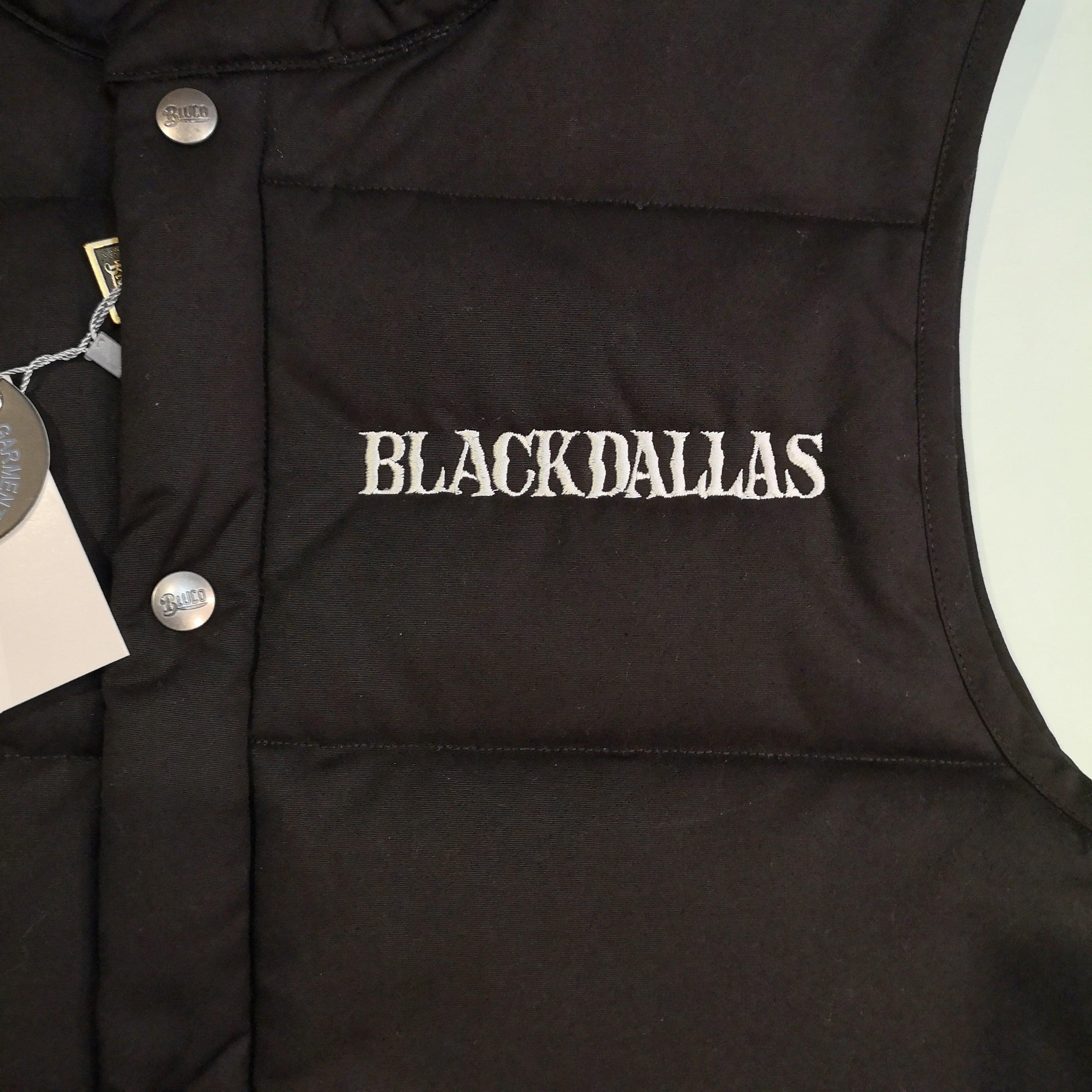 """BLACKDALLAS """"QUILTING VEST"""" BLACK/NAVY BLUCO別注"""