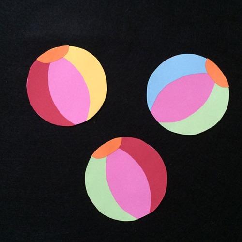 ビーチボールの壁面装飾