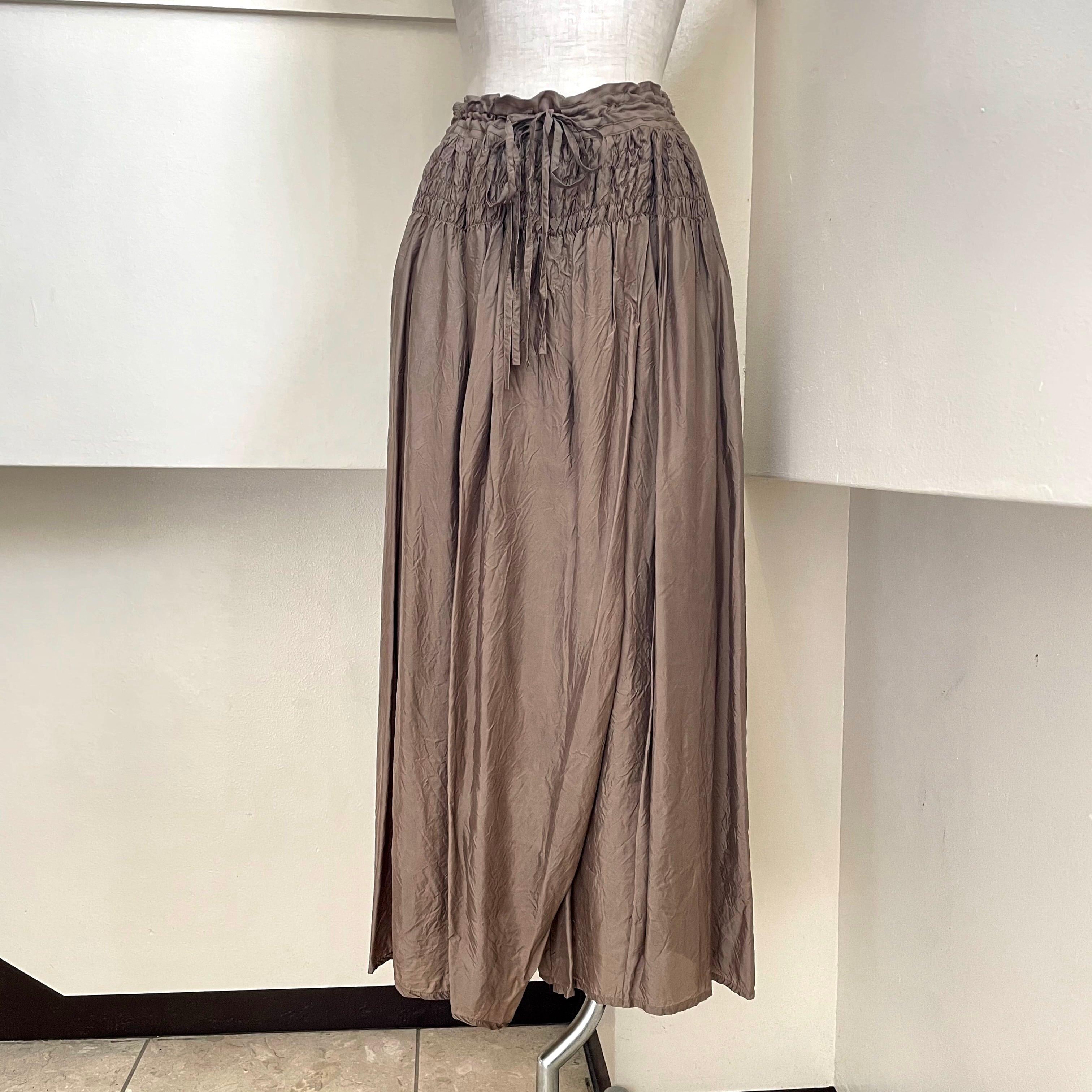 【hippiness × Sakurako.】 cupro underpants(burnet)/ 【ヒッピネス × サクラコ.】キュプラ アンダーパンツ(吾木香 )