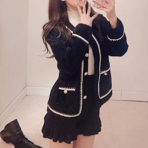 【 再入荷 】モヘアモノトーンジャケット(Black)