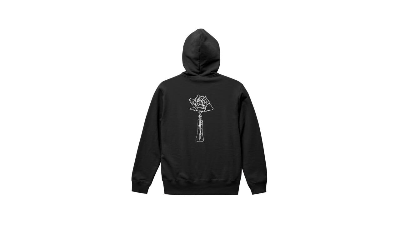 coguchi ROSE hoodie (BLK)
