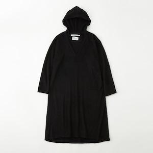 <WOMEN'S>HOODED DRESS - BLACK