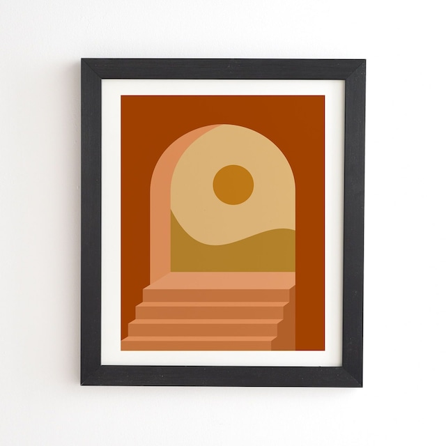 フレーム入りアートプリント - MINIMAL ARCHWAU BY COLOUR POEM【受注生産品: 11月下旬頃入荷分 オーダー受付中】