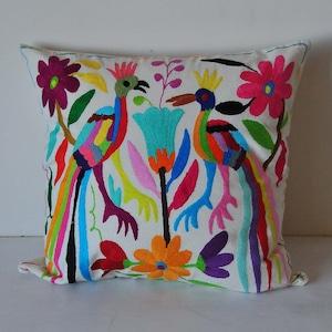 メキシコ オトミ族刺繍クッションカバー(012)