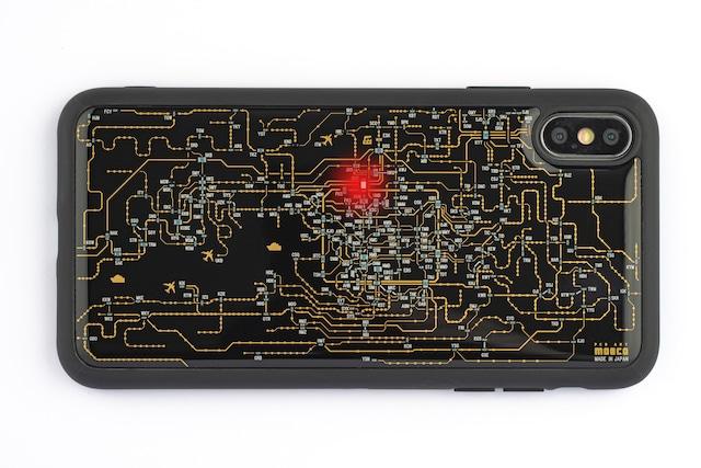 FLASH 関西回路線図 iPhone XS Maxケース 黒【東京回路線図A5クリアファイルをプレゼント】