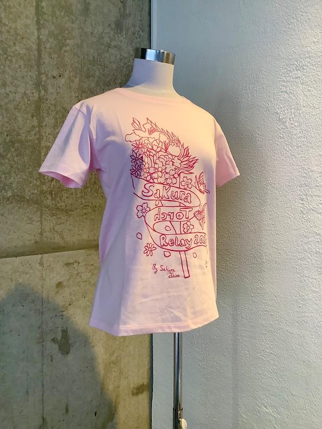 さくらアリス さくら聖火リレーTシャツ(ライトピンク・トロピカルピンク・ラベンダー・パープル・ライムグリーン)