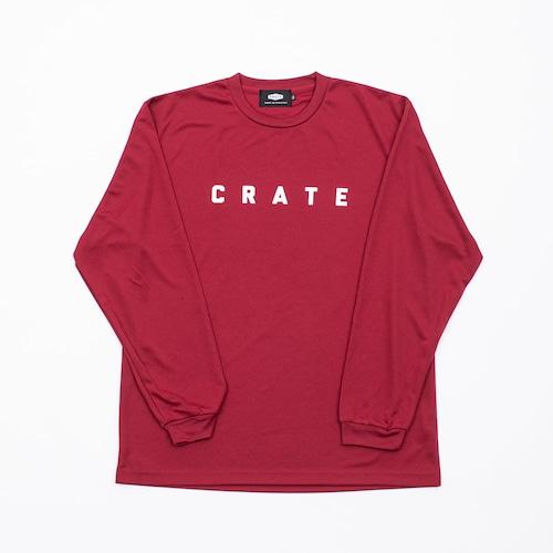 Crate Simple Logo L/S Mesh Tee Burgundy