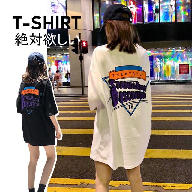 【トップス】原宿ストリート系アルファベット半袖Tシャツ43343275