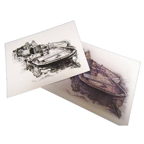 ポストカード「軍艦島ドローイング」