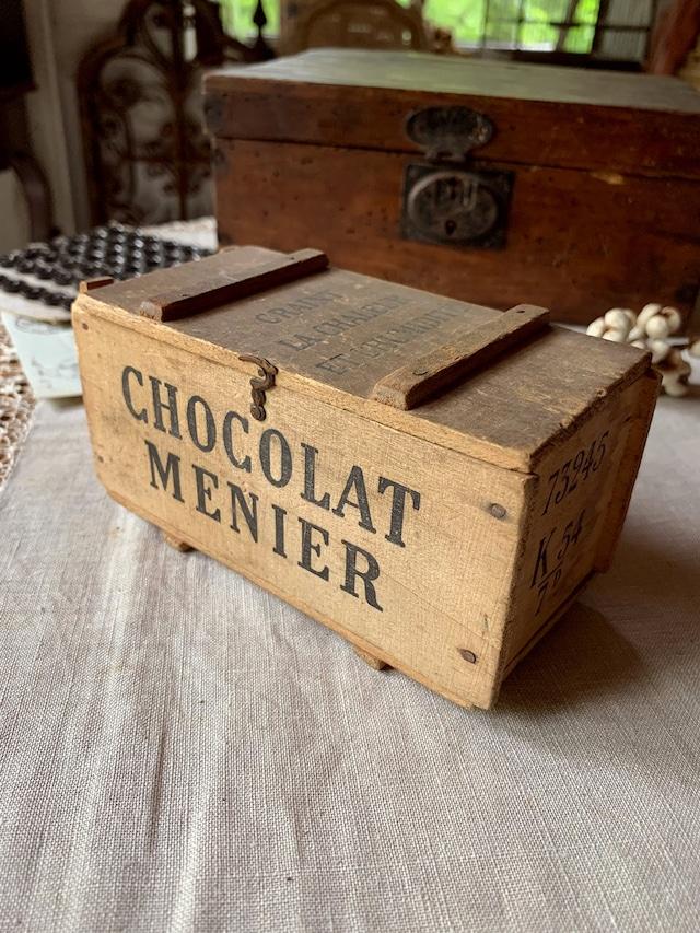 ショコラムニエの木箱 CHOCOLAT MENIER