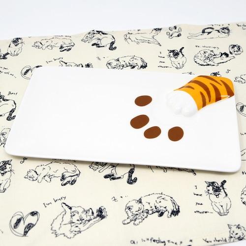 猫皿(どろぼう猫魚プレート)とらねこ