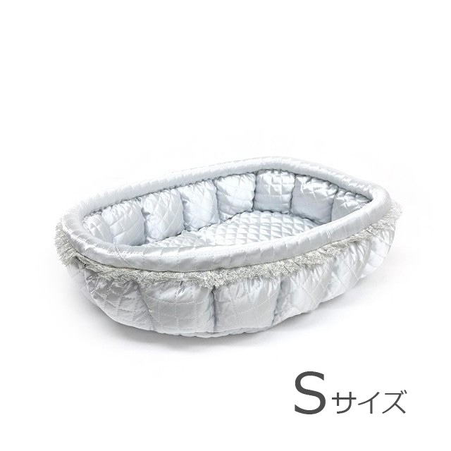 ふーじこちゃんママ手作り ぽんぽんベッド(サテンゴールド)Sサイズ【PB18-061S】