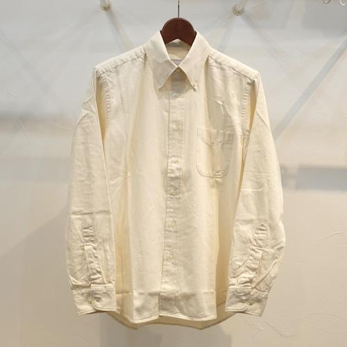 Workers(ワーカーズ) デニムモディファイドボタンダウンシャツ エクル
