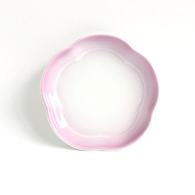 花丸皿(11.5cm) 可愛いカタチの小皿 ぼかし紫【2053-2750】