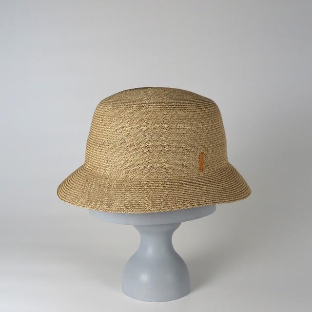 SS20-BD-5 Paper Braid Bucket Hat BEG/MAG