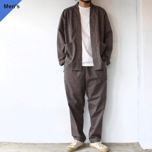 weac. HATENA SHIRTS / RELAX PANTS イージーセットアップ Brown Check