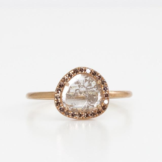 Slice diamond surround ring
