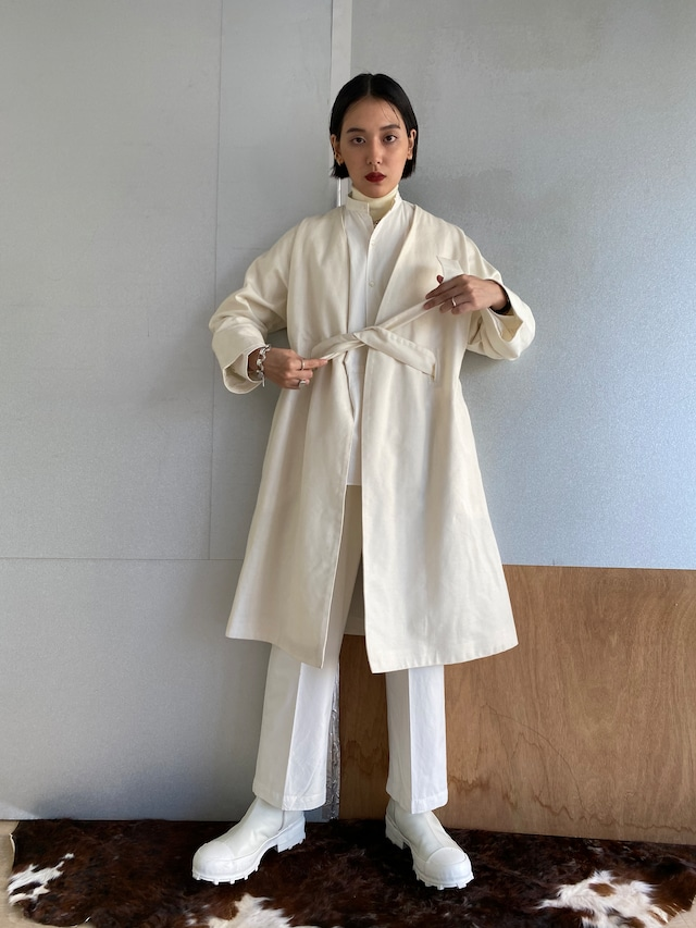 """Gown coat """"white"""" wool"""