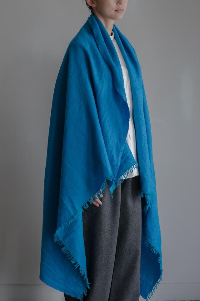01601-3 chambray stole / turquoise,lightblue