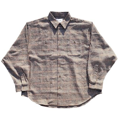 Flannel wide shirt(Burgundy)