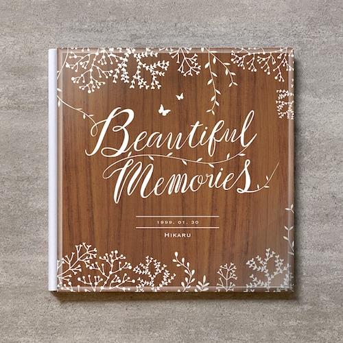 Tree's Board(Brown)-成人式_A4スクエア_6ページ/6カット_クラシックアルバム(アクリルカバー)
