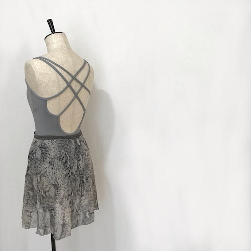 "❖""Fiorina"" Ballet Wrap Skirt -   Python (Gray) [Sheer]( パイソン(グレー)[シアー])"
