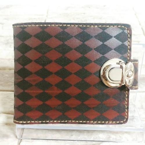 アーガイルチェック 二つ折財布