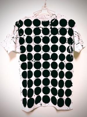 Standard ドットシブキTシャツ(白地×黒ドット)