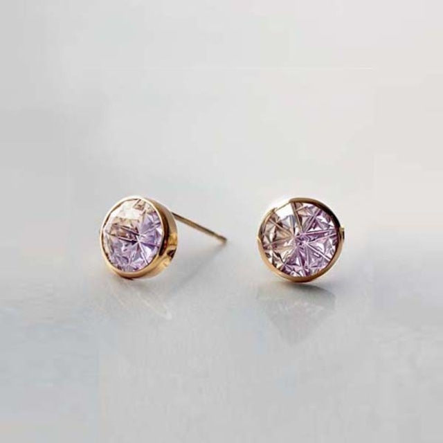 Ametrine KIRIKO Pierced Earrings (Round)