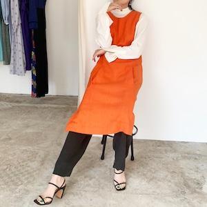 Orange Linen dress