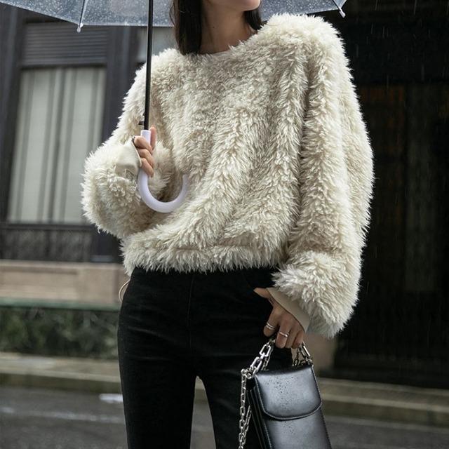 Fake fur tops KRE1083