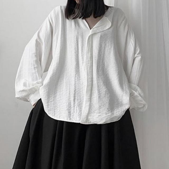 スタンドカラー長袖シャツ   1-467