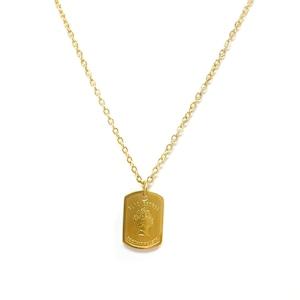 Elizabeth Plate Necklace【GOLD】