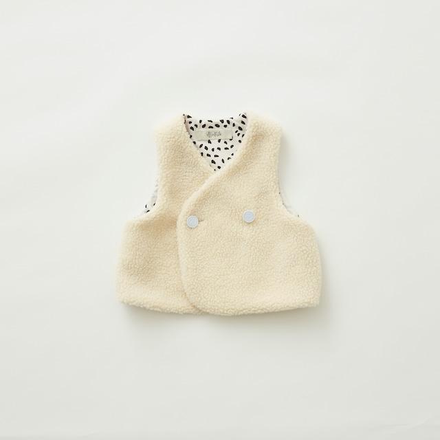 《eLfinFolk 2021AW》Sheep boa  baby vest / ivory