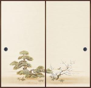 日新817(2枚柄) 織物ふすま紙 203cm×100cm 2枚1組セット