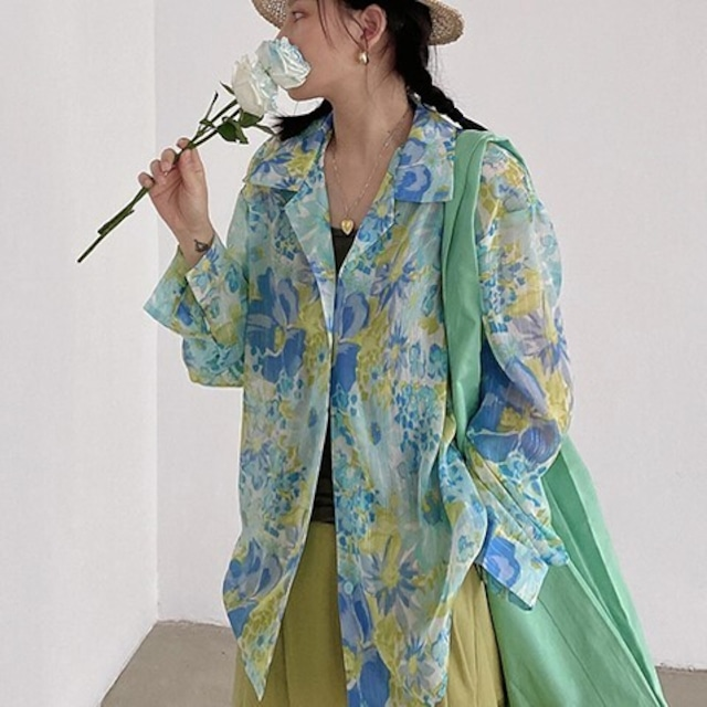 Floral print shirt  KRE943